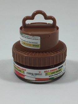 SKOKREM CHEQ BRIlL - LYS BRUN - M/SVAMP