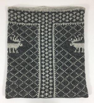 Tuva Bøff/Hals Mørk strikk