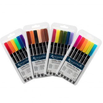 LEATHER MARKERS - 6pk