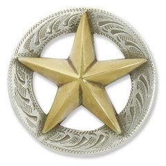 CONCHO POSTSKRUE - TEXAS STAR - 19 MM