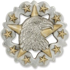 CONCHO POSTSKRUE - EAGLE STAR - 31 MM